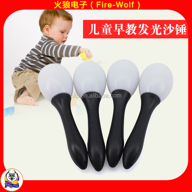 Cheap Price Party Supply LED Flashing Maracas 2016 Christmas Party Favors LED Flashing Sand Hammer