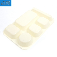 Ecofriendly factory cheap custom plastic white disposable dinner plates