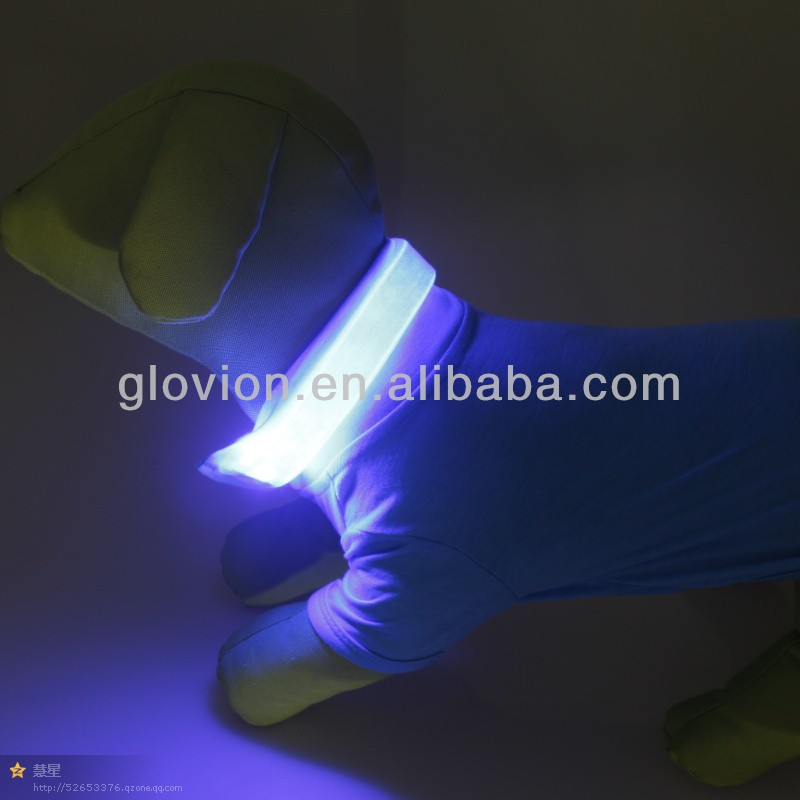 NEW arrival led pet clothes flashing dog clothes led light dog tee