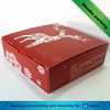 Company logo printed red sweets desserts pastry custom food box