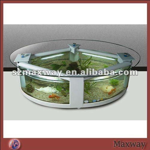 Rond clair table basse avec acrylique poisson rouge de for Prix aquarium rond