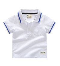 Bulk custom 100% cotton clothes children school wear kids polo shirts