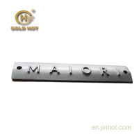 LZ-006R-customized cheap metal nameplate,aluminum labels