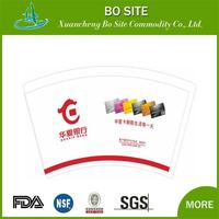 wholesale logo printed high-quality raw materials for single wall paper coffee or tea cup for best-selling
