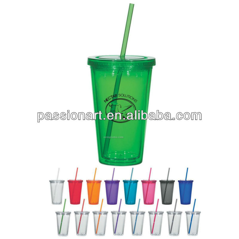 16 oz Double Wall Clear Cup Insulated Spirit Tumbler