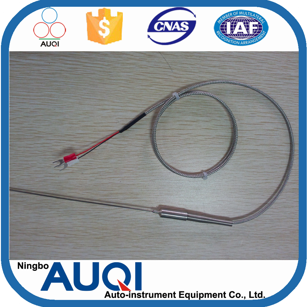 With u shape connector b/s/<strong>r</strong> type thermocouple, with spring flexible thermocouple, <strong>R</strong>/S/B type generator temperature sensor