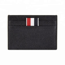Custom Rfid Blocking Card Holder With Money Clip Business Genuine Leather Credit Name Card Holder <strong>Wallet</strong>