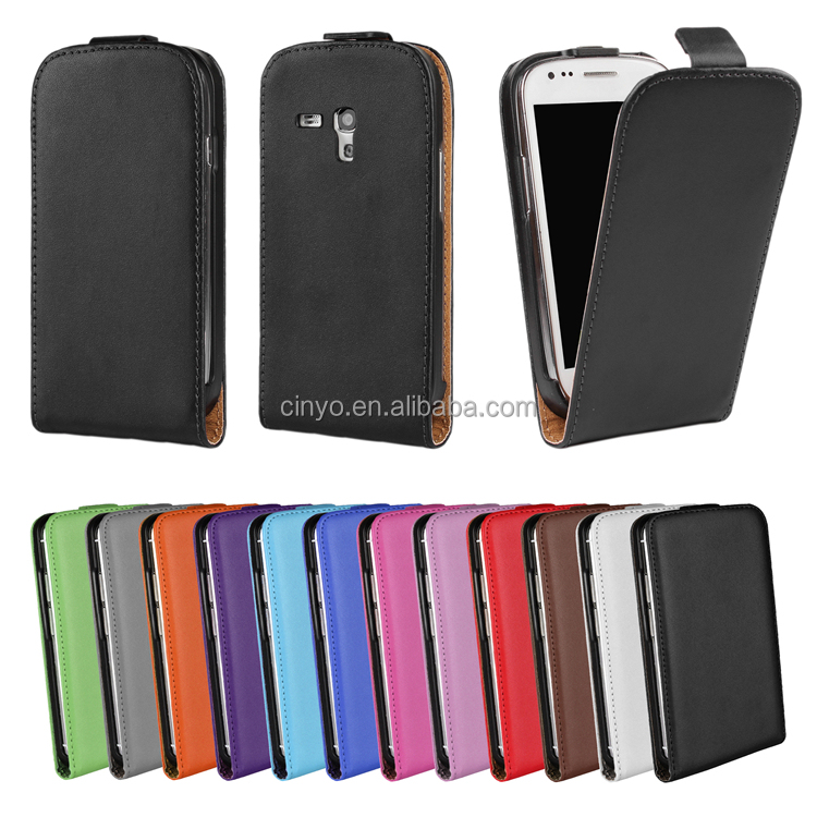 leather flip cover case for samsung galaxy s3 mini i8190