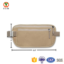 Customized elegant RFID travel money belt wholesale running waist bag