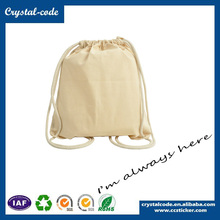 Recyclable Long Handle Cotton Canvas Makeup Drawstring Bag