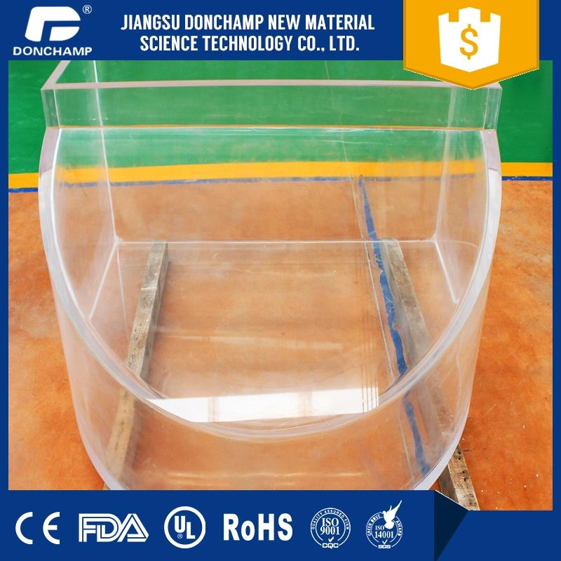 Best-selling aquarium glass cylinder tube fish tanks for restaurants with CE certificate
