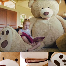 200cm New Teddy bear skin Giant Luxury <strong>Plush</strong> Extra Large Teddy Bear cost - Dark Brown - Light Brown