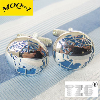 Fashion Stainless Steel Globe Cuff Link