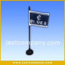 Table Flag/Desk Flags with poles/Factory sale polyester table flag