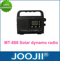 Rechargeable led flash light dynamo solar radio with LCD clock