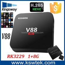 Google ott V88 dual core 1080p android smart tv box