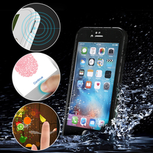 High Quality Mobile Phone Accessories 360 degree Full Cover TPU waterproof phone case for iphone 7 7 plus