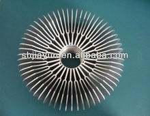 extruded profile,aluminum extrusion profile ,aluminum round heat sink with manufacturer of china