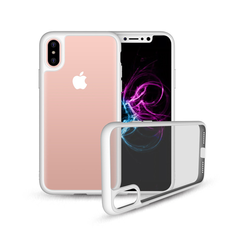 Best Selling Products 2017 in USA Hard PU Frame Hybrid TPU Phone Case Cover for iPhone X