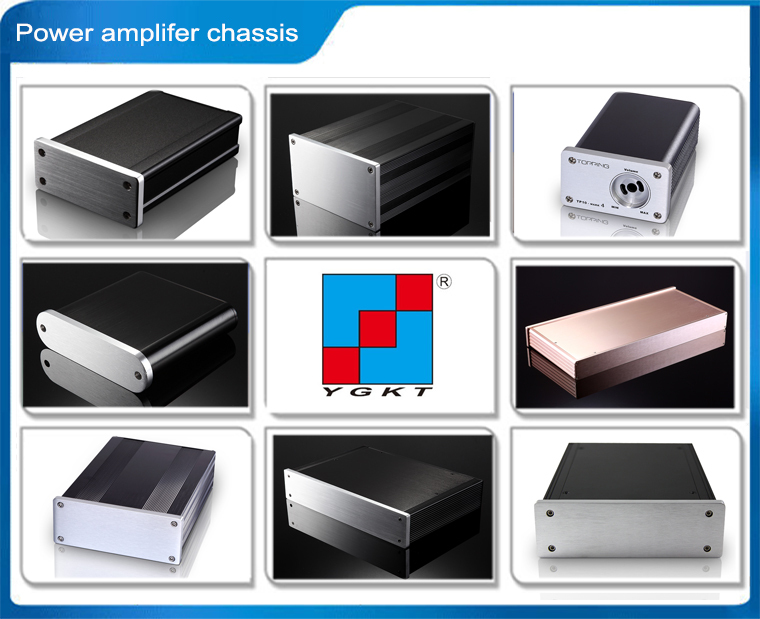 YGW-032 438x 2u-250mm Power Amplifier Aluminium Amplifier Chassis Parts audio amplifier chassis design for you