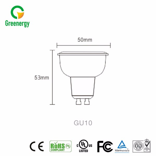 Factory price CE RoHS certificate 5w dimmable cob gu10 led spotlight