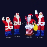 high quality commercial grade 2015 promotional new style acrylic christmas decoration santa claus