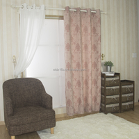 NEW ARRIVAL100% Polyester Linen Like Jacquard Curtain & curtain fabric