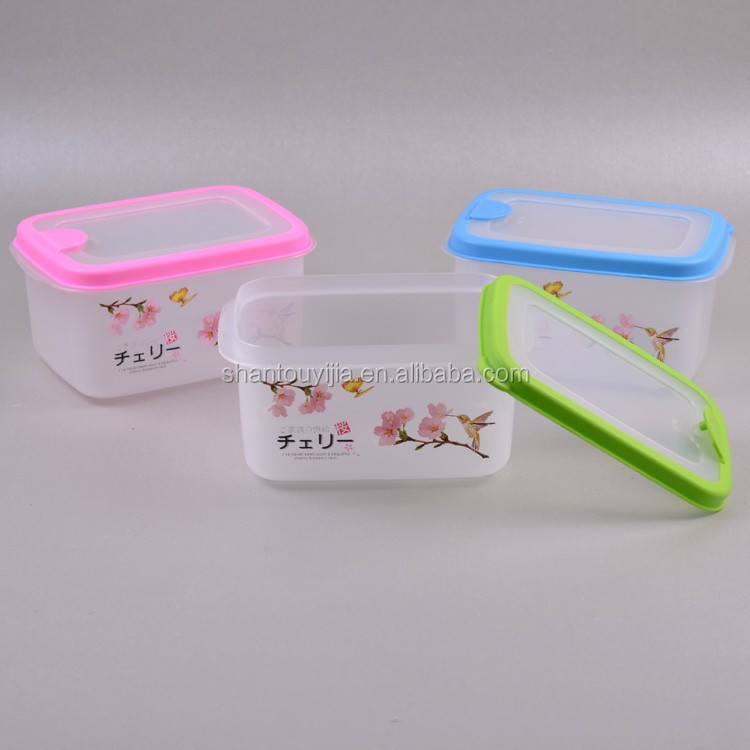 Rectangle Airtight Plastic Sealed Food Container with porous lid Small Size Plastic Sealed Food Container