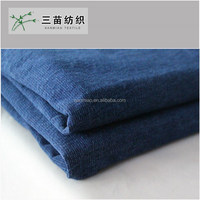 yarn dyed stretch 100 cotton french terry knitted denim fabric