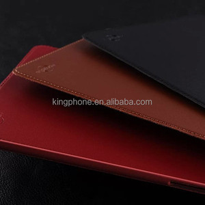 genuine real red cow leather flip tablet cover case,leather holster for ipad mini 3/2/1