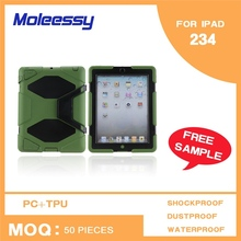 With screen protector mobile phone wateproof case for ipad 3