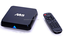 China manufacture lowest price android 4.4 smart google internet tv box k200 firmware 2g ram 8g rom amlogic s802 ott tv box m8