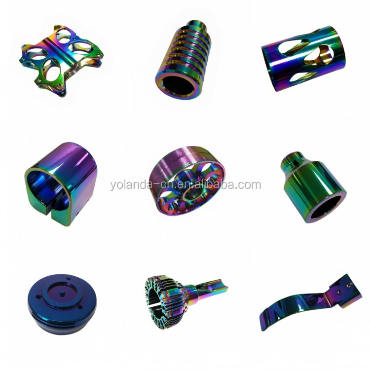 High-end Quality Metal Parts Vacuum Plating Service Custom Precision Aluminum Extruded CNC Machining Pipe Clamp PVD Plating