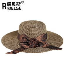 fashion cheap wholesale hat paper ladies straw floppy hat promotional