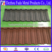 Nosen type sand coated metal roof tiles made popular Philippines Market