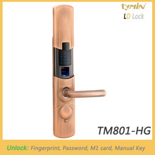 TYMIN LOCK Residential Fingerprint Door Lock with Password and M1 Card 13.56MHz