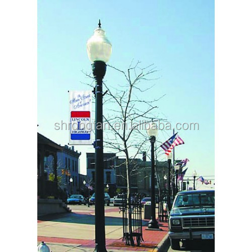 Custom durable and UV-resistant outdoor vinyl banner Downtown street pole banner
