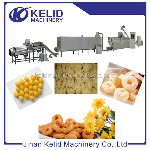 Fully Automatic Puffing Snack Food Processing Line
