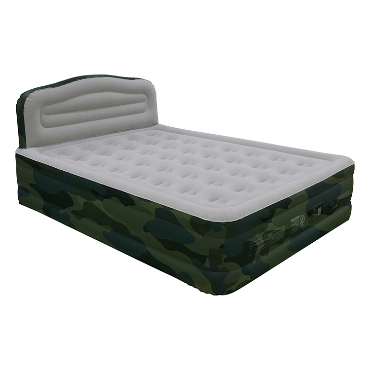 Plug in 24 Inch air mattress camouflage pattern inflatable air matress