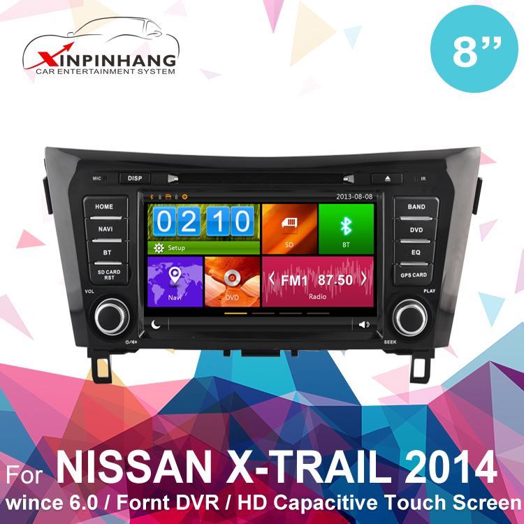 touch screen car dvd gps for NISSAN X-Trail with gps navigation system,3G/WIFI, Mirror link, Front DVR