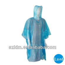 disposable Rain Poncho in ball with key chain