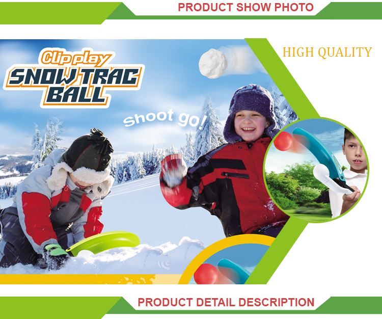 Top selling outdoor winter play toys gun snow ball machines