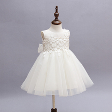 summer princess kid party baby sleeveless dress beatiful girl's dress