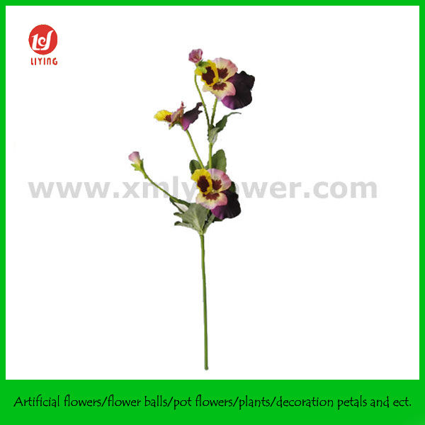 Home Decorative Products of Pansy Flower Spray