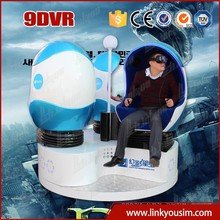 Incredible realism VR headset with dynamic motion rotating platform,online 3d/5d/9d interative movies