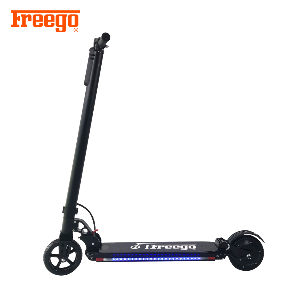 6.5 inch foldable smart e scooter 2 wheel kick scooter adult electric skateboard
