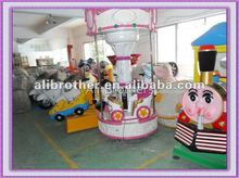 Amusement park equipment rides musical carrousel for kids