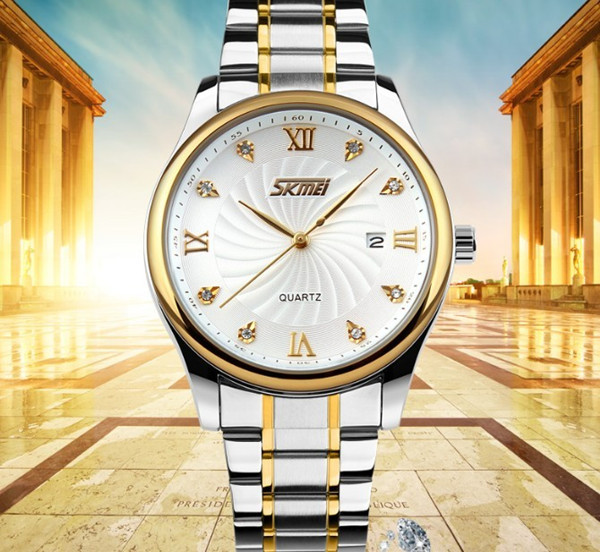 create your own brand stainless steel big case water resistant men oem gold watch