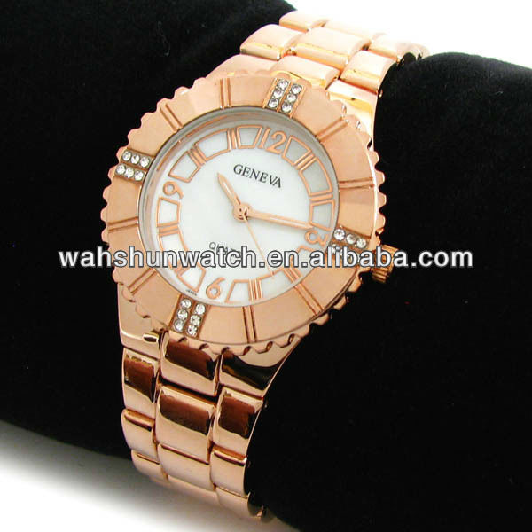 Your own logo custom china top brands japan seiko movement gold watch