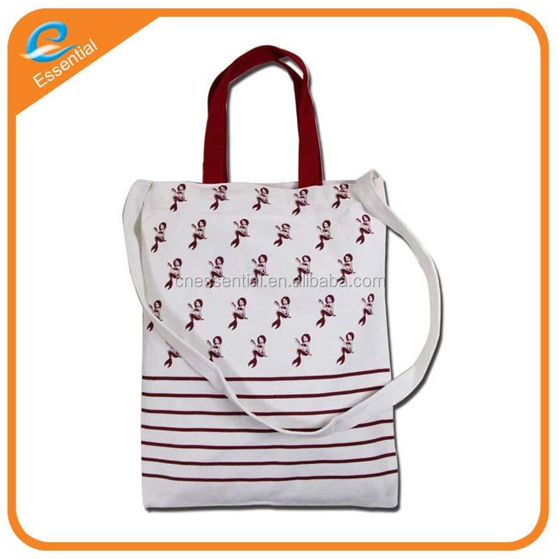 Wholesale organic cotton fabric drawstring tote bag, tote bag cotton for retail